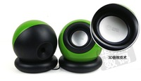 Hoting Mini usb desktop computer speakers portable notebook speakers with subwoofer 1pcs