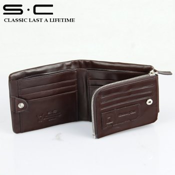 S.C Free Shipping  + 100% cow leather -  travel organizer/Wholesale Brand Wallet/Man Leather Wallet   QY0051-1-Z