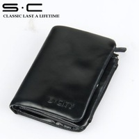 S.C Free Shipping  + 100% cow leather -  Man's Wallet/wallet wholesale/leather wallet man  QY0051-2-H