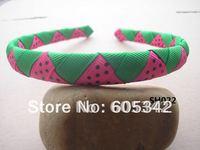 NEW!! 1/2 inch Watermelon Headband  U Pickup Style/Color Woven Ribbon Headbands Girls Baby Infant  + EMS  Free Shipping