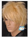 England style  SHORT BLONDE MIXED COSTUME UNTIDY FAHION MEN WIG  Amazing fashion