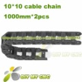 10X10 Cable drag chain wire carrier 10mm*10mm Plastic Cable Chain with end connectors for CNC Machines Tool DIY