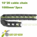 10X20 Cable drag chain wire carrier 10mm*20mm Plastic Cable Chain with end connectors for CNC Machines Tool DIY