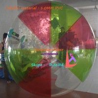 WH-WB-7 inflatable colorful PVC water rolling ball germany zipper free shipping