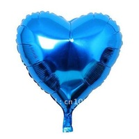 Heart Shaped 18 Inch Foil Mylar Balloons Free Shipping  Hot Selling Party Supply/ Aluminum Metallic Helium Foil Balloons
