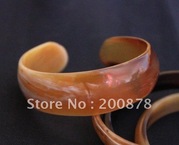 BB-235 Tibetan natural Yak Horn open cuff Bangle,healthy bracelet,girl`s gift,mix order(China (Mainland))