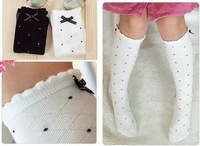 Free Shipping Children 's socks, girls tube socks in children 's stockings bow princess socks