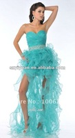 2012 Latest Green&Red Sweetheart Beaded Long Cocktail Dress/Prom Dress