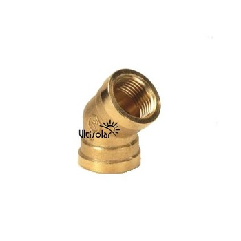 "Female G3/4"" DN20 Equal 45 Degree Copper Elbow Brass Elbow Brass Connectors Brass Fittings Ultisolar New Energy"