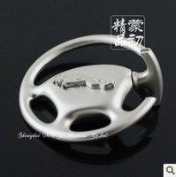 K1725 free shipping 8 pcs/lot Steering wheel car keychains Jaguar  car keychains  fashion keychains  newdesign car keychains