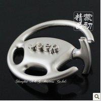 K1727 free shipping 8 pcs/lot Steering wheel car keychains JEEP car keychains  fashion keychains  newdesign car keychains