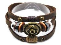 E3002-free shipping(10 pcs per lot)!wholesale & retail 2012 fashion 100% genuine leather bracelet set