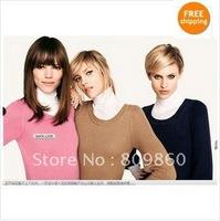 Женский свитер H* new style women's Patchwork Leather Pocket long cardigan sweater