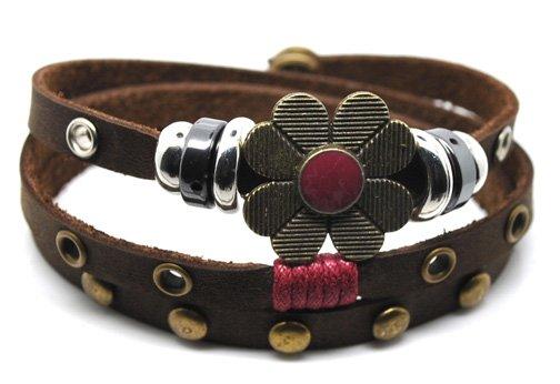 E3014-free shipping(10 pcs per lot)!wholesale & retail 2012 fashion 100% real leather stud bracelet(China (Mainland))