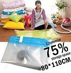 New 80x 110cm Large Space Saver Saving Storage Bag Vacuum Seal Compressed Organizer FREE SHIPPING!