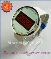 Flash Led touch watch digital watch matel Watch Touch Screen watch 5pcs/lot+Free shipping