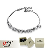 OKP JEWELRY 925 sterling silver bracelet FREE SHIPPNG bead silver chain NEW ARRIVEL 337