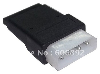 free shipping wholesale 4Pin IDE to 15 Pin SATA N IDE to serial ATA SATA hard drive power adapter cable