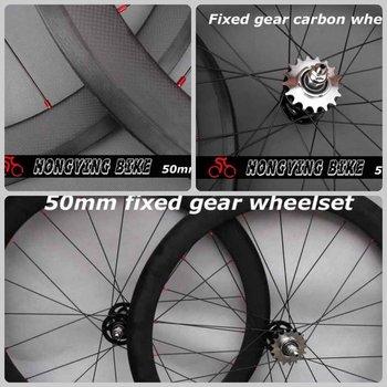Engins fixes de carbone roues 50 mm pneu bon partenaire 3 K mat