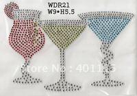 WDR21 Drink rhinestone transfer