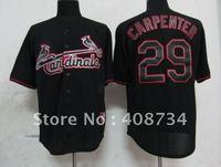 Free shipping-St. Louis Cardinals #29 Carpenter Black Fashion jersey,Cardinals jerseys,baseball jerseys