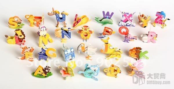 Буквы из бумаги животные