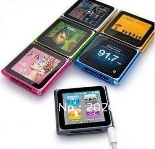 "FREE SHIPPING ! new 1.8"" 6th gen mp3/mp4 touch screen shakable FM Radio Video"