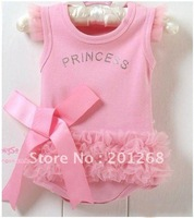 Free shipping Princess dress 33 pcs/lot ,baby rompers dress High Fashion baby dress,baby clothing