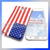 National Flag UK USA Flag IMD Hard Case for Samsung Galaxy Note i9220/N7000 Free Shipping
