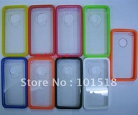 10pcs/lot &Free shipping New TPU+crystal Hard Back Case for iphone 4G 4S