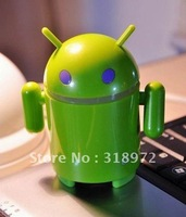 Free shipping  mini  USB robot android speaker sound box ,for your iPod, iPhone, Laptop Computer  20pcs  beautiful