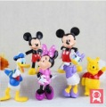 Free Shipping High Quality PVC Mickey mouse Donald Duck pooh 5pcs/set