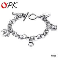 OKP JEWELRY HOT HOT !! NEW FASHION  925 sterling silver bracelet  Lucky Bracelet 383