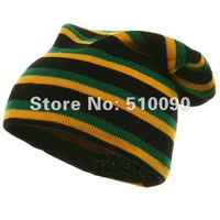 Wholesale RASTA REGGAE JAMAICAN Beanie Skull Wrap Rasta Knit Cap Fashion Hat