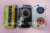 30pcs/lot New Arrival  retro Radio Cassette and Carema Designs Plastic Hard case for Blackberry 8520,Free Shipping