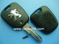 Free shipping Peugeot 206 2 buttons remote key case& key blank& key shell& key cover, car key