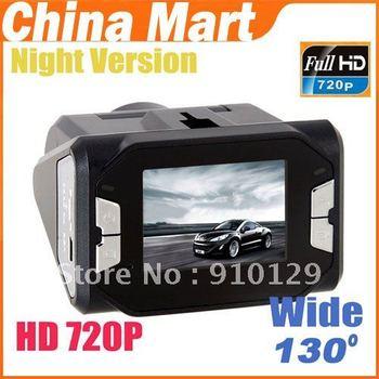 New Car HD 720P Night Vision Vehicle Camcorder DVR Road Recorder Free Shipping + Drop Shipping