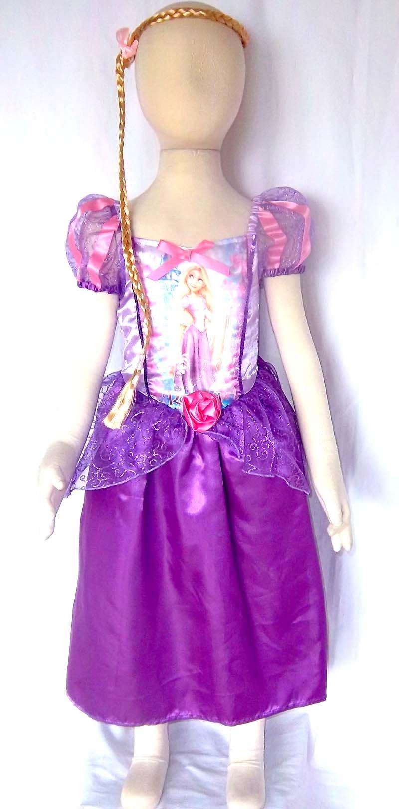 purple rapunzel kids fancy dress princess costume fancy dress up pink Kids Costume holliday gift party dress birthday dress up(China (Mainland))