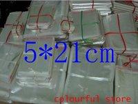 Free Shipping!clear plastic bag, packing bag ,self adhensive plastic bag,5(um) silk 5*21cm 1000pcs/lot