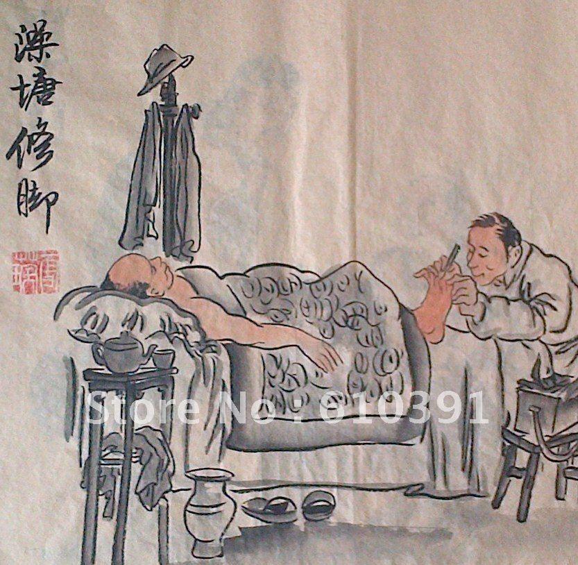 Free Shipping Oriental Asian Chinese Folk Art Ink Painting