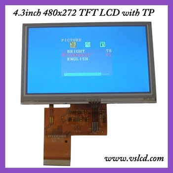 4.3 inch TFT LCD LCM RGB 480*272 Display+TOUCH PANEL SCREEN