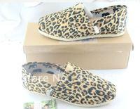 free shipping Hot women's classic  leopard grain canvas shoes
