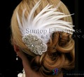 Wedding Feathers Accessories,crystal rhinestone hair flower
