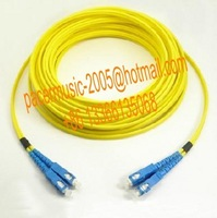 Wholesale of dedicated SC-SC connector single mode dual-core 15 meters optical fiber jumper with superior quality and good price