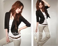 Женские шорты 2012 women new clothing fashion bow neck stripe long lantern sleeve t shirts lady white black cotton blouses 2248