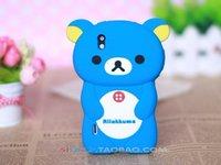Hot Selling Cute Soft Silicone Skin Case Cover 3D Rilak kuma Bear For LG P970 Optimus Black ,free shipping 1pcs min order