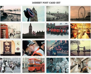 LONDON Lomo Photo Memory postcards set / Greeting Cards/ gift cards/ Occident Vintage Stationery wholesale