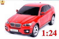 Free shipping 2pcs/lot  Best quality 1:24 Scale Medium RC Luxury X6 Rc Cars / Rc toys / Radio Car