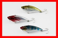 Free shipping! 75mm13gram fishing lure VMC hook,50pcs/lot, 3 color available poper lure
