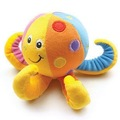 Candice guo! Hot sale super cute baby toy TOLO colorful octopus shape baby rattles hand bell 1pc